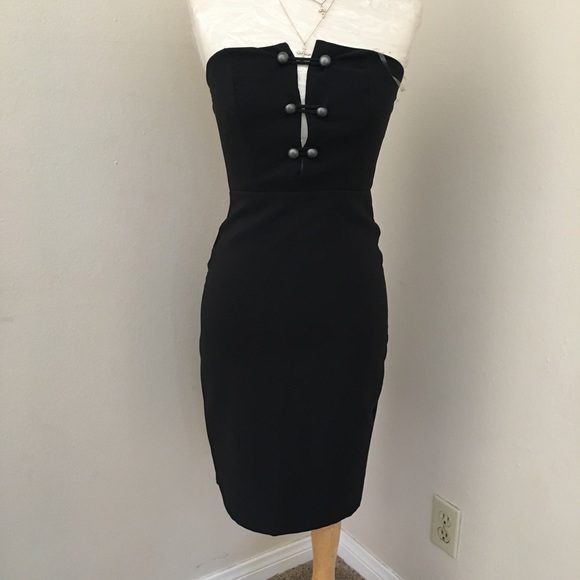 Charlotte Russe Dresses & Skirts - NWOT black classy midi dress button up front